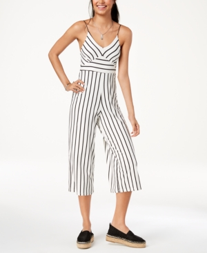 5a71892ffe1 Polly   Esther Juniors  Striped Cropped Jumpsuit - White L ...