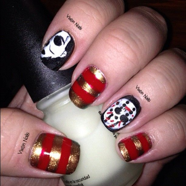 Horror Movie Nails Photo By Vixennails Great Art Pinterest