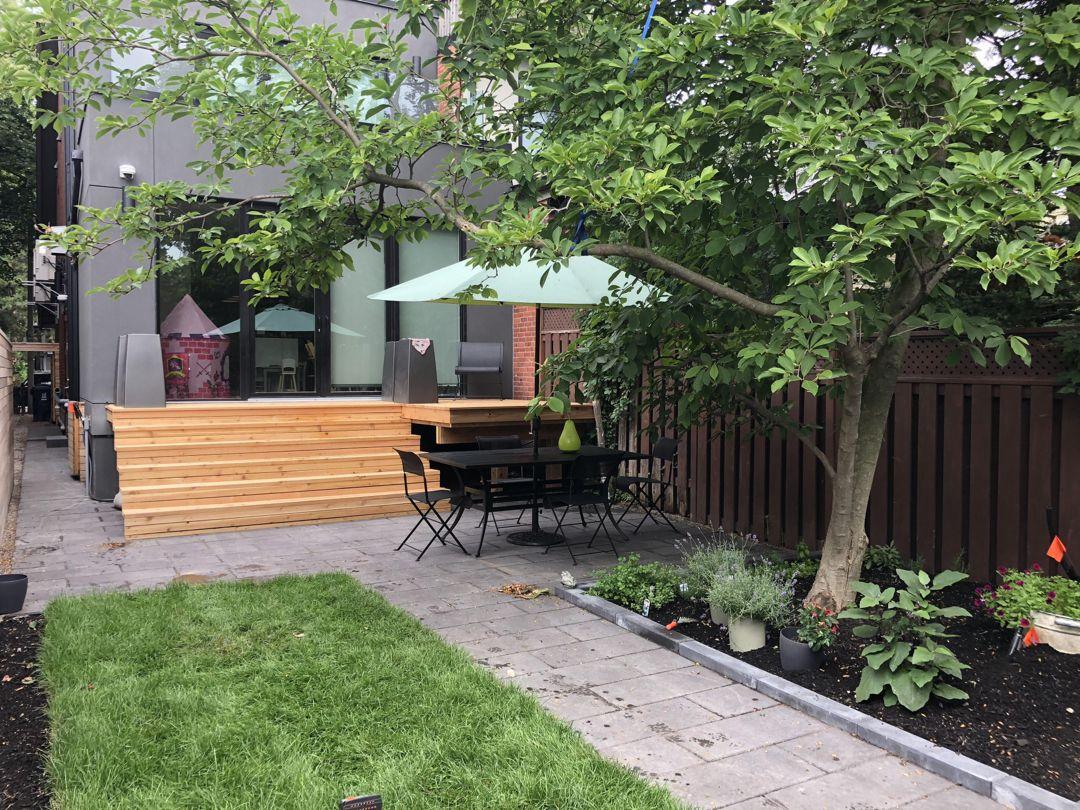 Modern Backyard Design And Construction By Action Home Services Modern Backyard Design Modern Backyard Backyard Landscaping