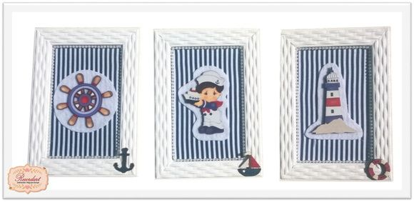Trio de Quadro Marinheiro