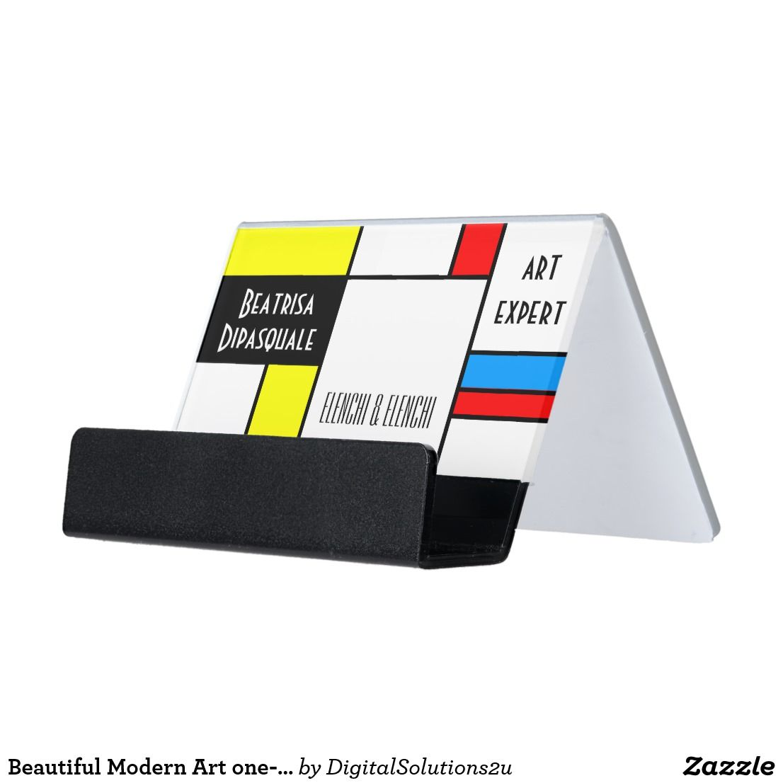 Beautiful Modern Art one-of-a-kind customizable Desk Business Card ...