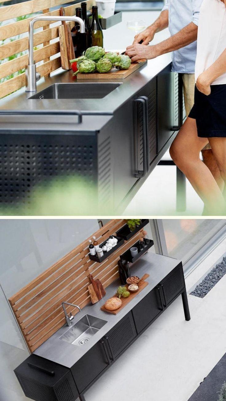 Outdoor Kitchen Modular Furniture The Worm That Turned Outdoor Kitchen Modul Branden Rodriquez 935 In 2020 Kitchen Modular Moduler Kitchen Outdoor Kitchen