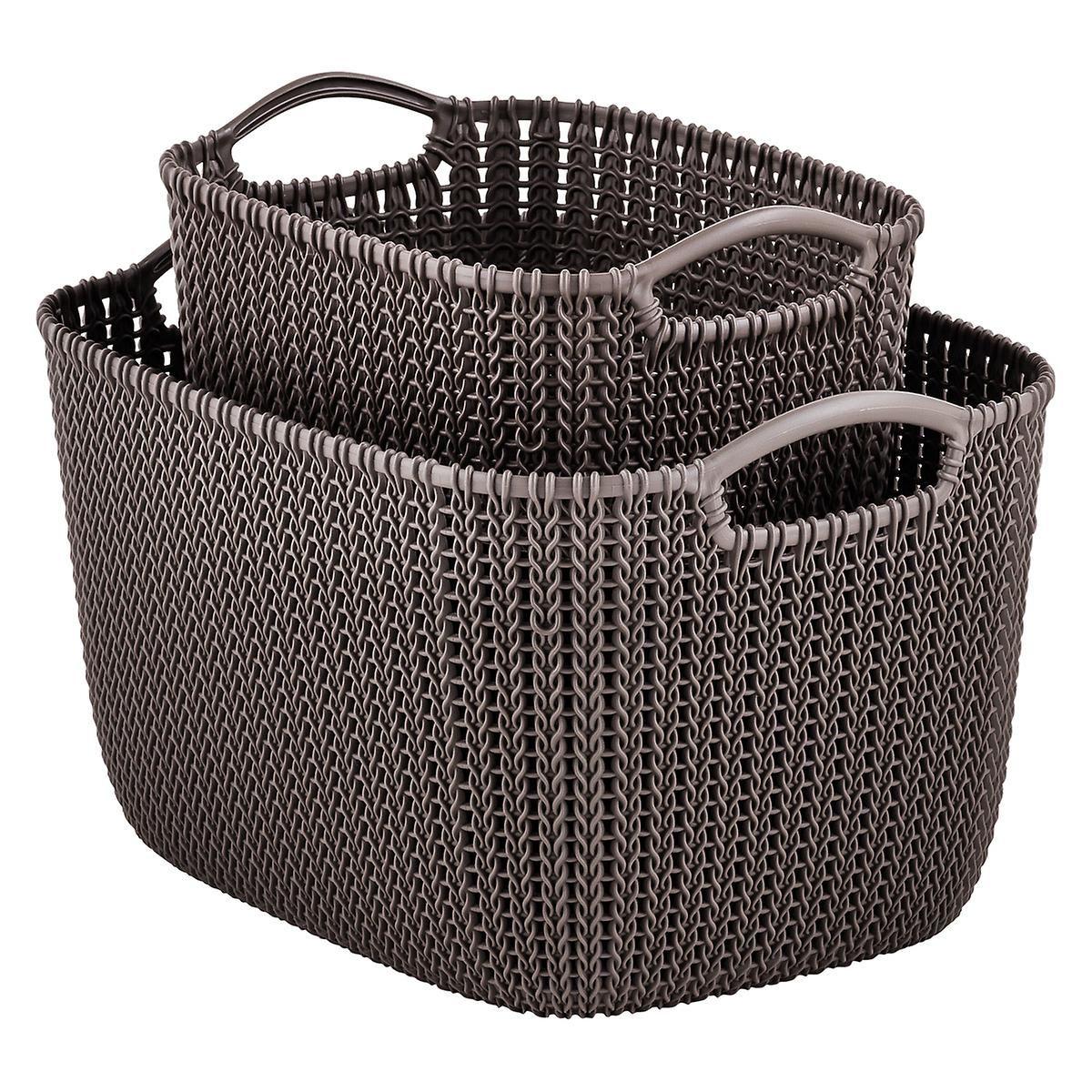 Harvest Brown Knit Baskets