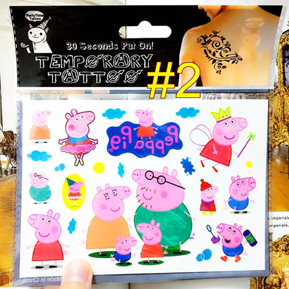 Pinky Pigs Family Child Temporary Tattoo Body Art Flash Tattoo Stickers 17*10cm Waterproof Henna Tatoo Car Styling Wall Sticker♦️ SMS - F A S H I O N 💢👉🏿 http://www.sms.hr/products/pinky-pigs-family-child-temporary-tattoo-body-art-flash-tattoo-stickers-1710cm-waterproof-henna-tatoo-car-styling-wall-sticker/ US $0.64
