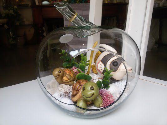 Acquario con pesci e tartarughe thun thun pinterest for Prezzo tartarughe