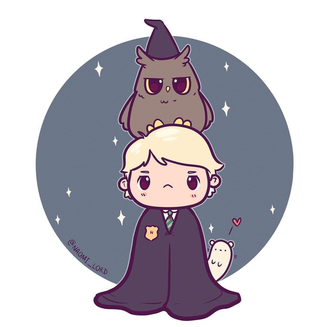 Draco malloy with his eagle owl and there might be a ferret somewhere dracomalfoy malfoy - Harry potter dessin ...
