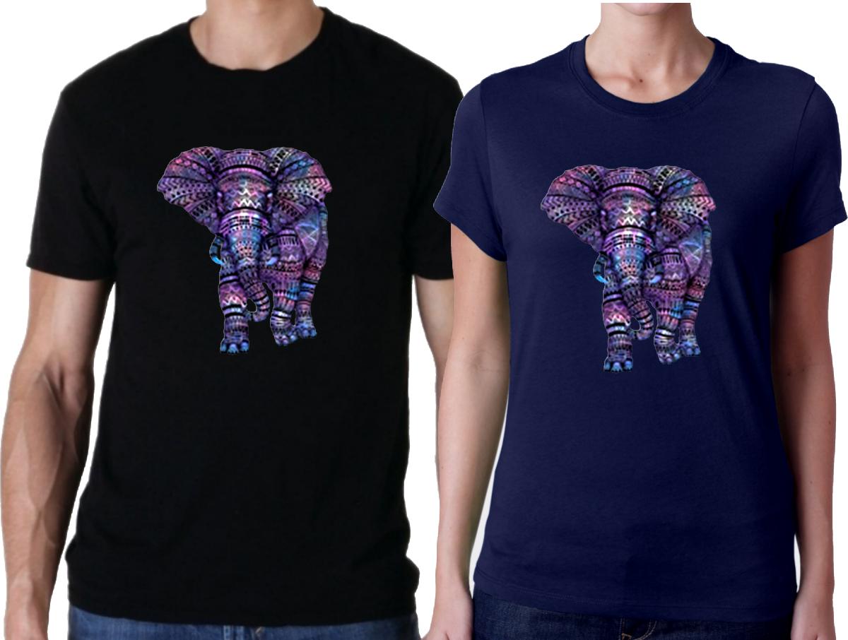Aztec Elephant Shirt/Purple Aztec Pattern African Elephant T-Shirts/Tribal  Wild Elephant T-Shirts/Geometric Elephant Lover Women/Men T-Shirt