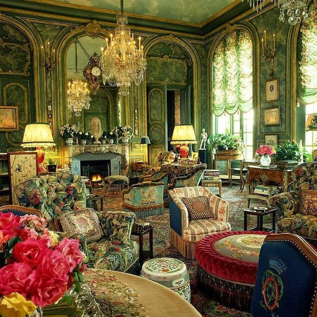 Decorating With Mixed Patterns Victorian Homes Victorian Interiors Elegant Home Decor #old #victorian #living #room