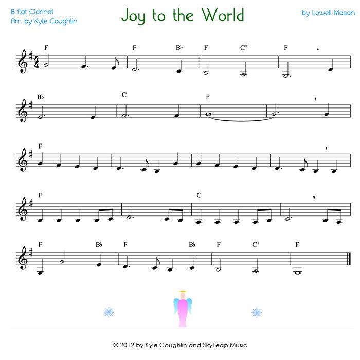 View The Printable Pdf Of Joy To The World For Clarinet  Clarinet