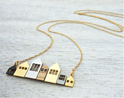 Long Copenhagen Necklace Scandinavian design by Shlomit Ofir My