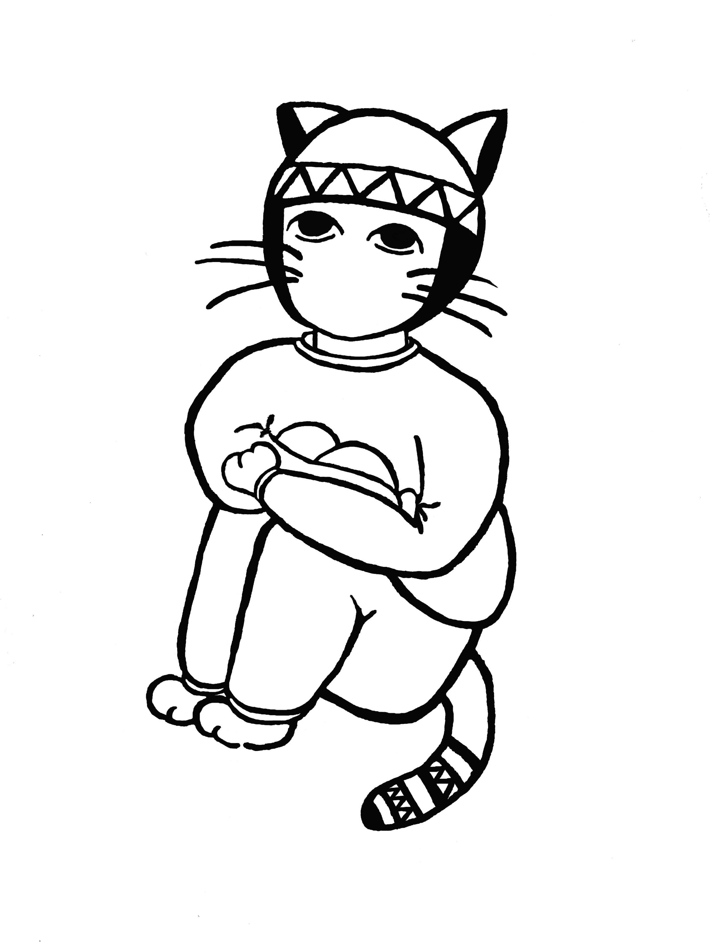 original illustration cat オリジナルのイラスト猫 『すうぇっとねこ