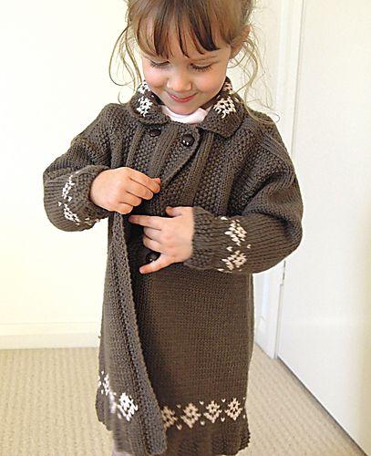 81a1ec7dc Girls double breasted swing coat - P018 pattern by OGE Knitwear ...