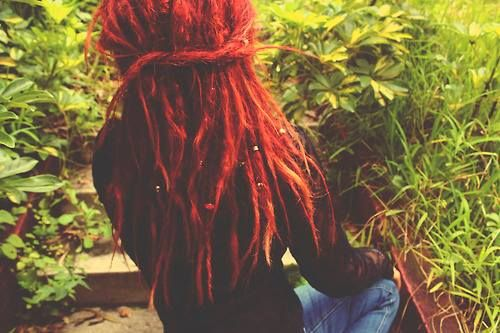 #dreads - Maybe ill dye my dreads red once they mature..i miss my red hair