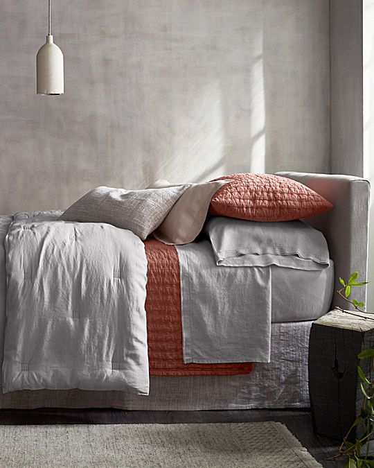 Eileen Fisher Rippled Organic Cotton Coverlet And Shams Bedding Inspiration
