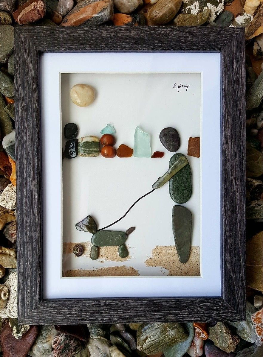 Walking the dog... Cornish and fabulous posture from the pebble dog ...