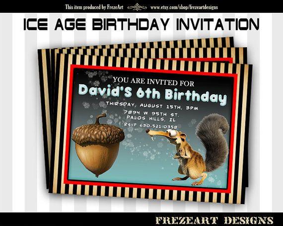 Ice Age Birthday invitation Card on Printable Sheet best for - best of invitation card birthday party