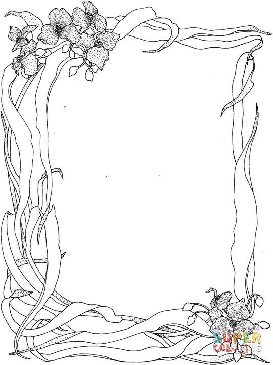Wild Nature Frame Coloring Page Supercoloring Com Coloring Pages Nature Designs Coloring Books Super Coloring Pages