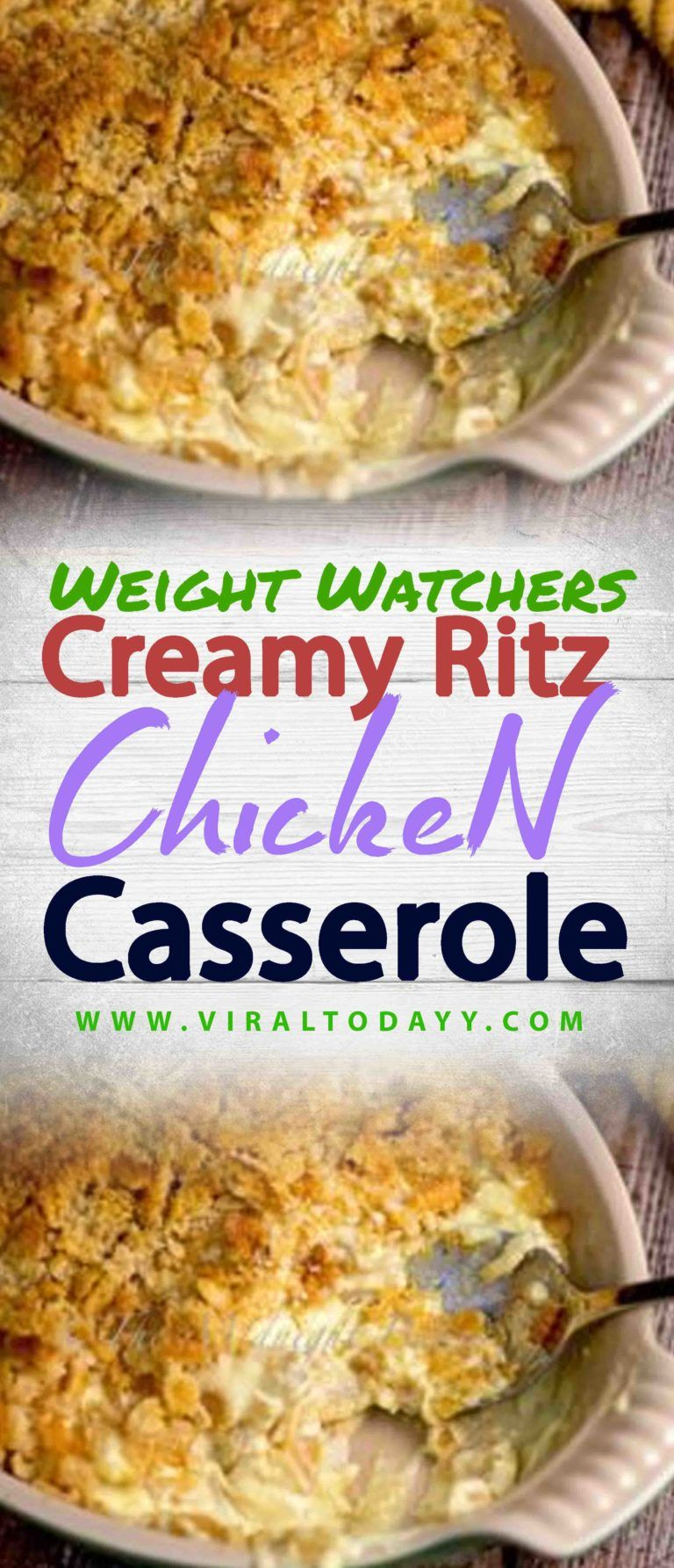 Creamy Ritz Chicken Casserole – Page 2 – All about Your Power Recipes #creamychickencasserole
