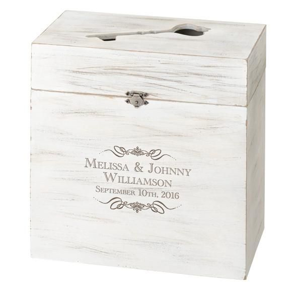 Personalized Wood Wedding Card Box