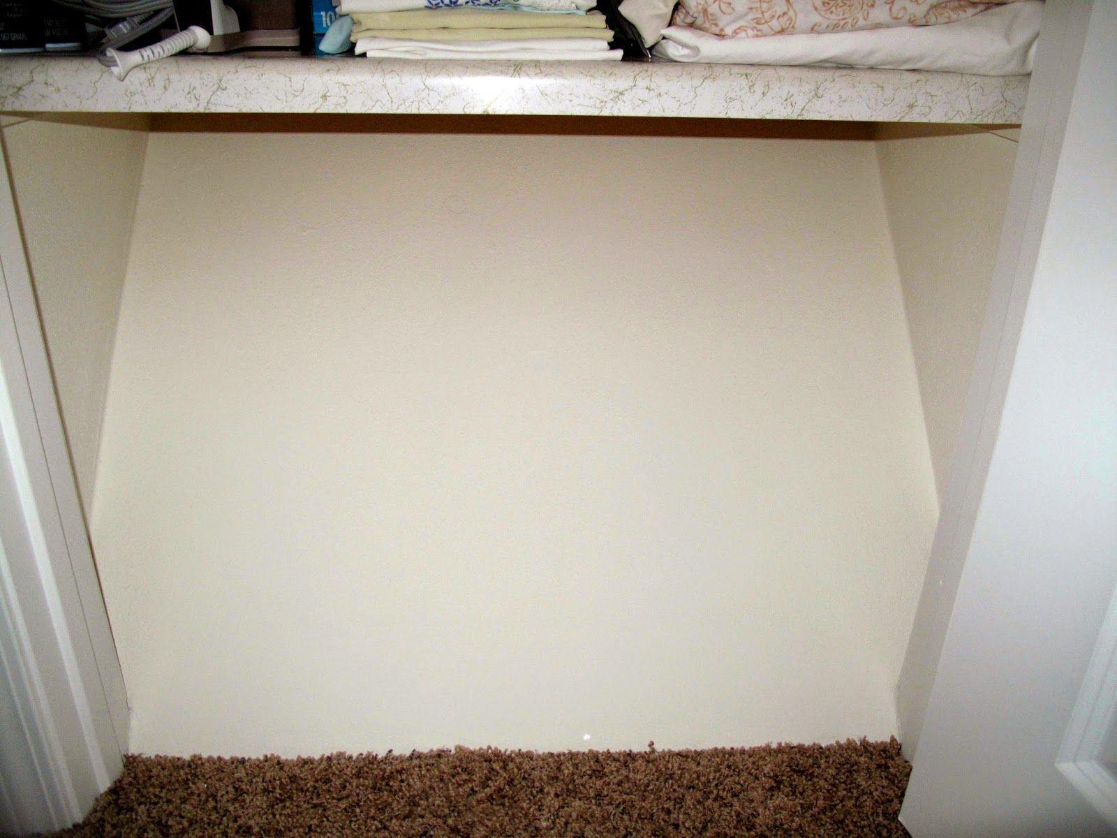 Cheerful Thrifty Door Slanted Closet Floor Problem Sloved Flooring Diy Closet Kitchen Cupboard Organization