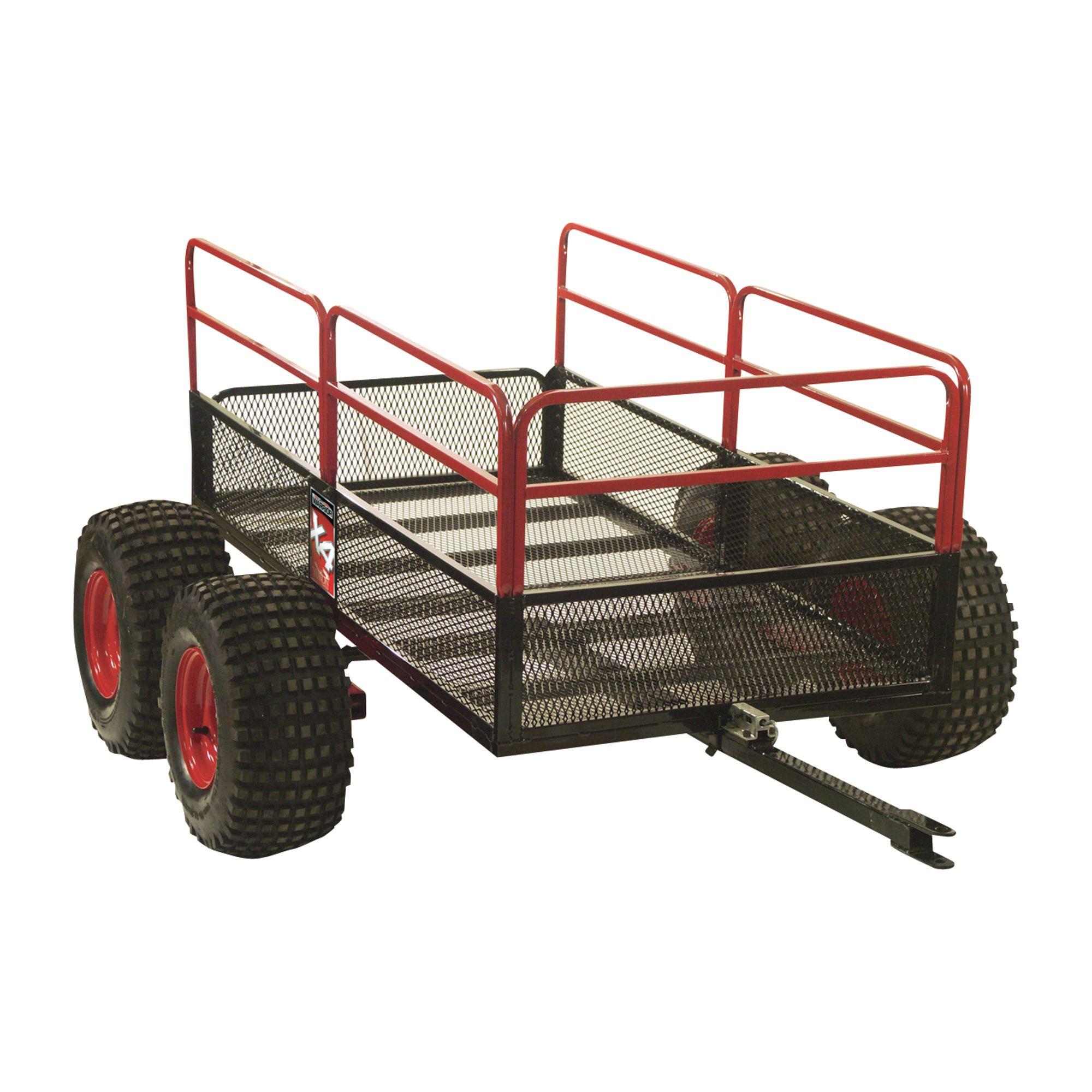 Yutrax Trail Warrior ATV Trailer — 4Wheels, 1,250Lb