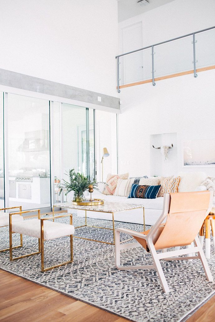 A Gorgeous Sun Filled Denver Home Tour Rugs In Living Room
