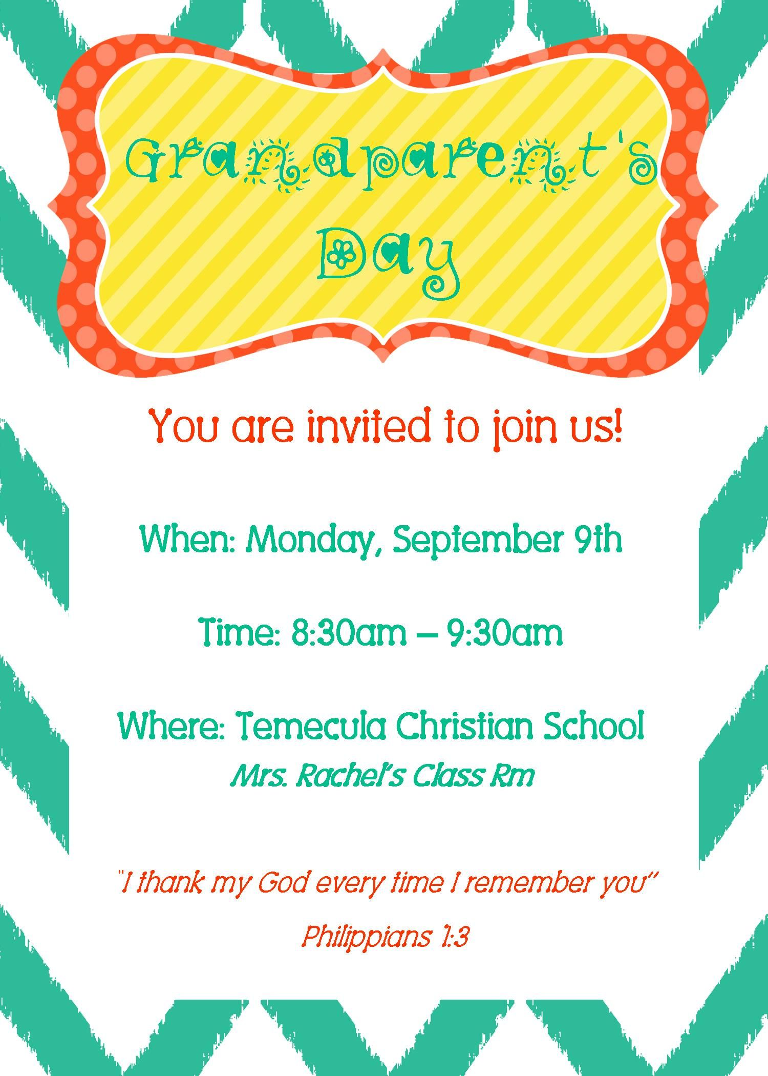 Grandparents day invite party time pinterest grandparents grandparents day invite stopboris Gallery