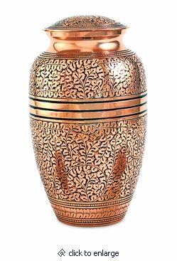 Copper Oak Brass Cremation Urn
