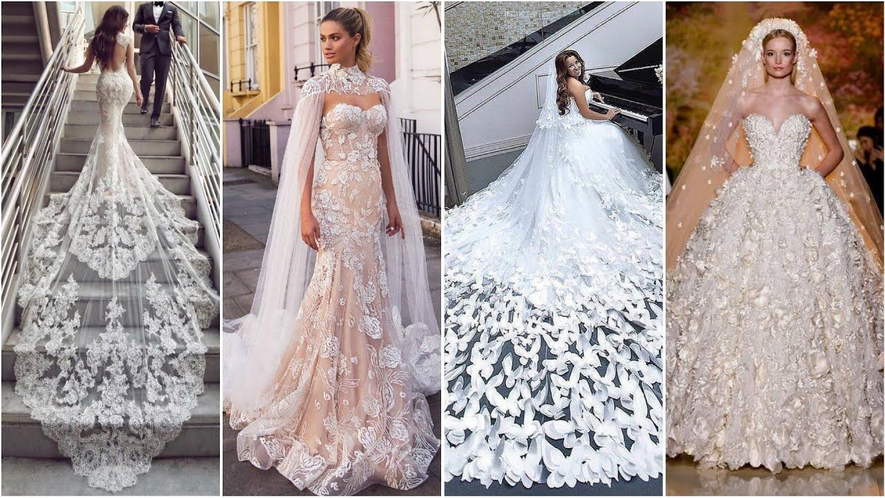 Most Beautiful Wedding Gowns In The World Amazing Wedding Gown Designs Ideas 2019 Clas Most Beautiful Wedding Dresses Beautiful Wedding Gowns Wedding Gowns