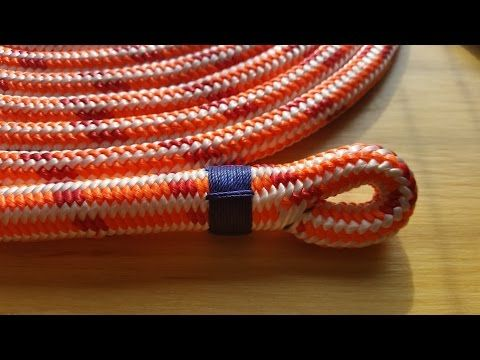 Eye Splice In Double Braid Polyester Rope Youtube Rigging And