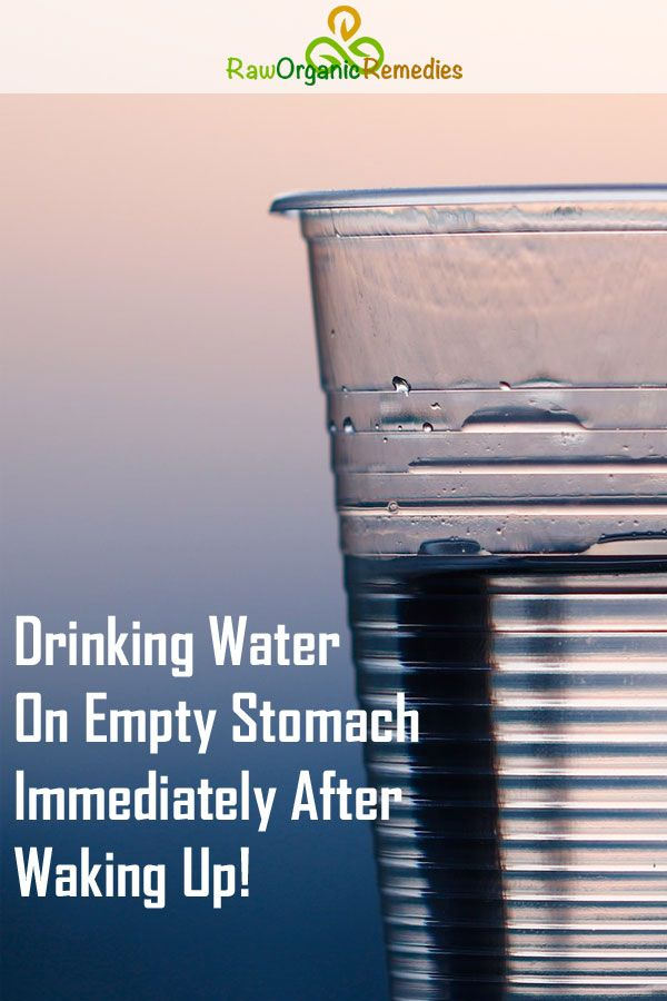 Drinking Water on Empty Stomach Immediately After Waking ...