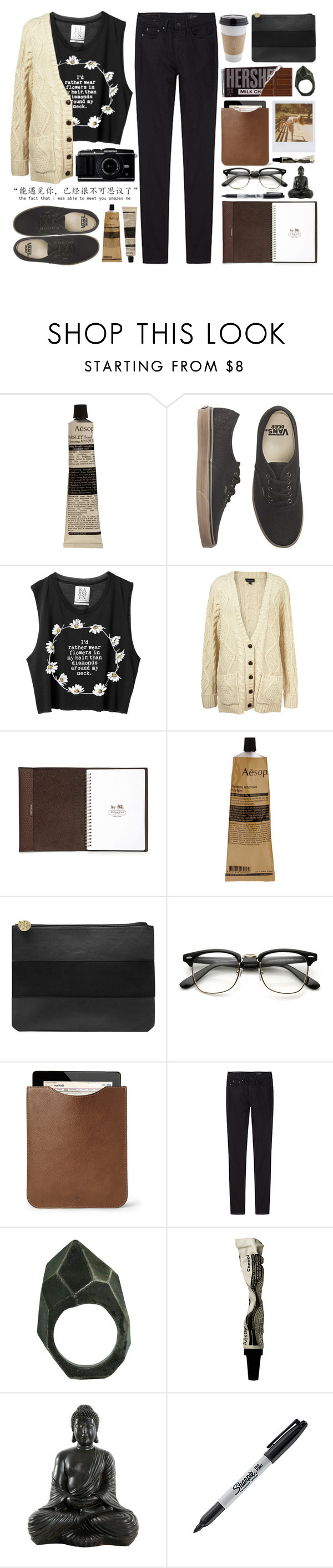 """Ella"" by justonegirlwithdreams ❤ liked on Polyvore featuring mode, Aesop, Vans, Coach, Band of Outsiders, Dorothy Perkins, Mulberry, THEM ATELIER, Lady Grey en Sharpie"