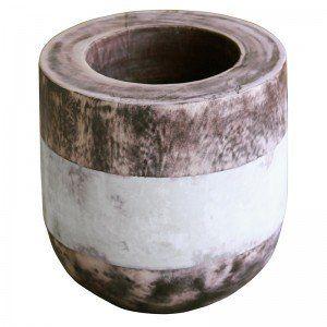 White Wooden Pot