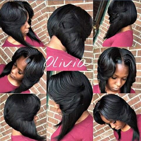 Layered Middle Part Bob Bob Hairstyles Hair Styles Quick Weave Bob