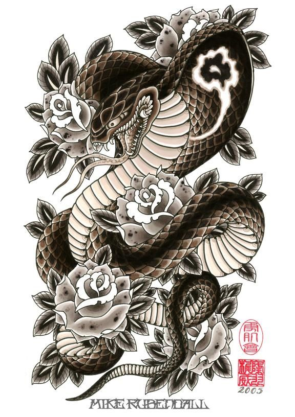 King Cobra Tattoo Drawing