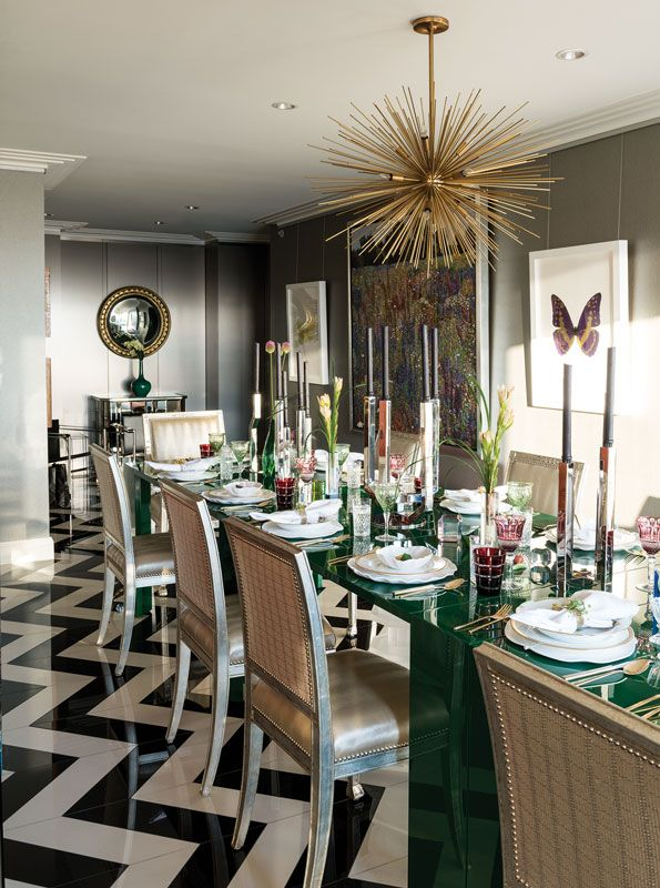 Take Home The Gold 30 Metallic Decorating Ideas Dining Room Updates Luxury Dining Room Modern Dining Room Bronze decorations for dining room