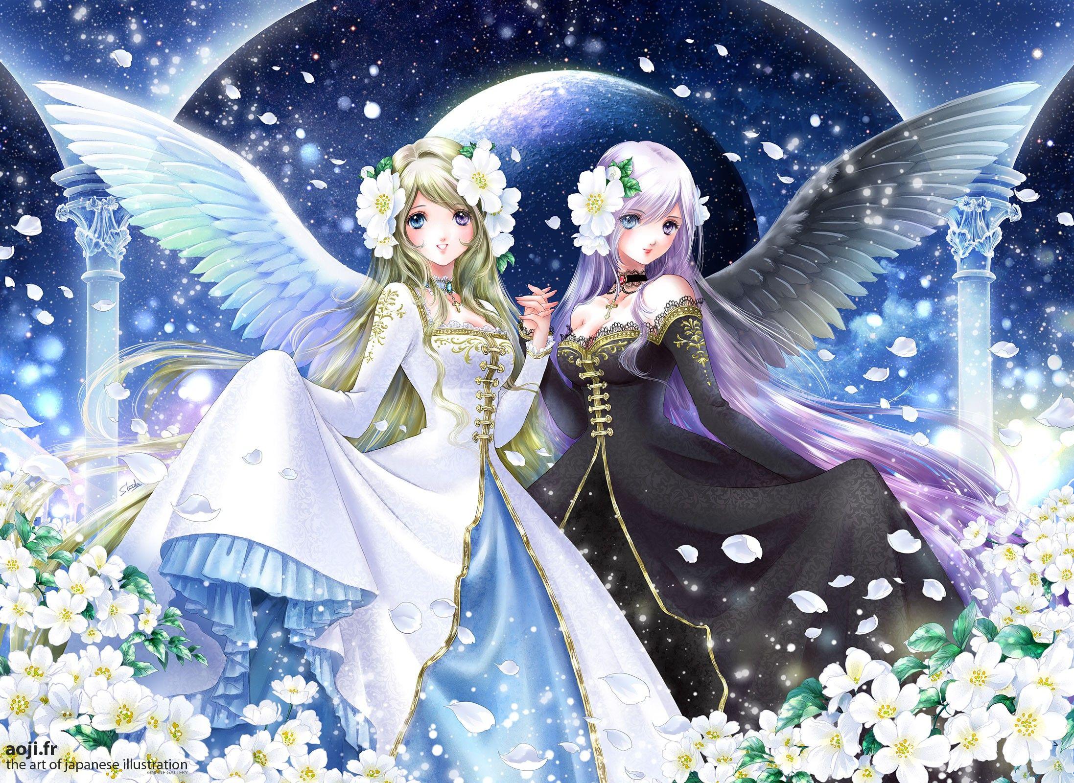 Gemini, by Shiitake Anime angel girl, Anime angel, Anime