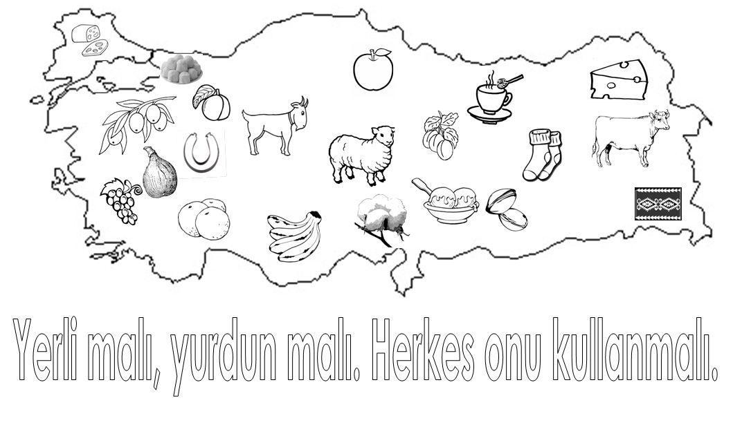 Yerli Malı Harita Boyama Ile Ilgili Görsel Sonucu Sınıf Kids