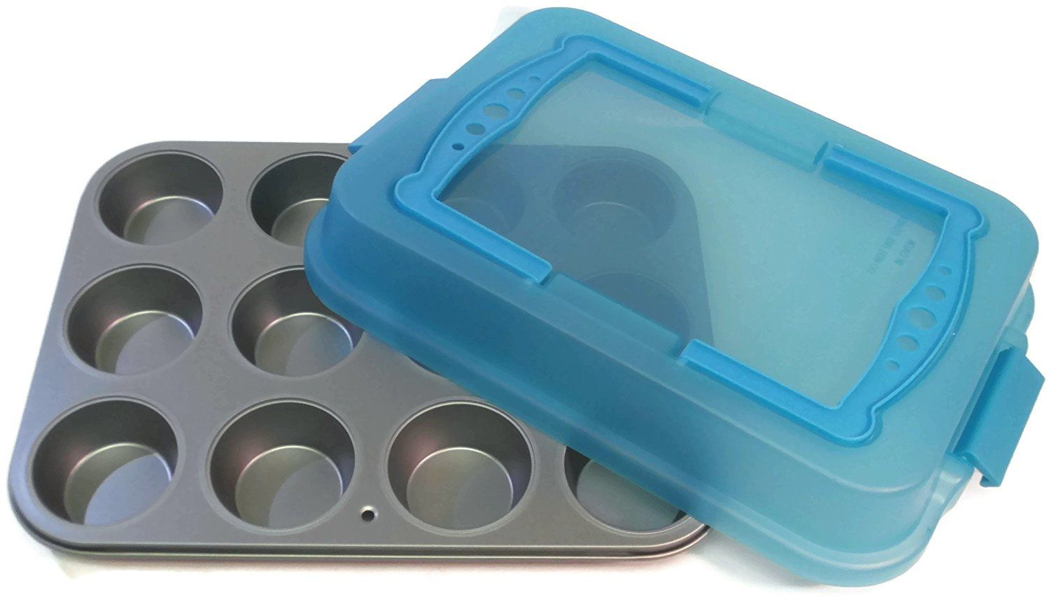 Ovenstuff nonstick 12 cup muffin pan with matching lid
