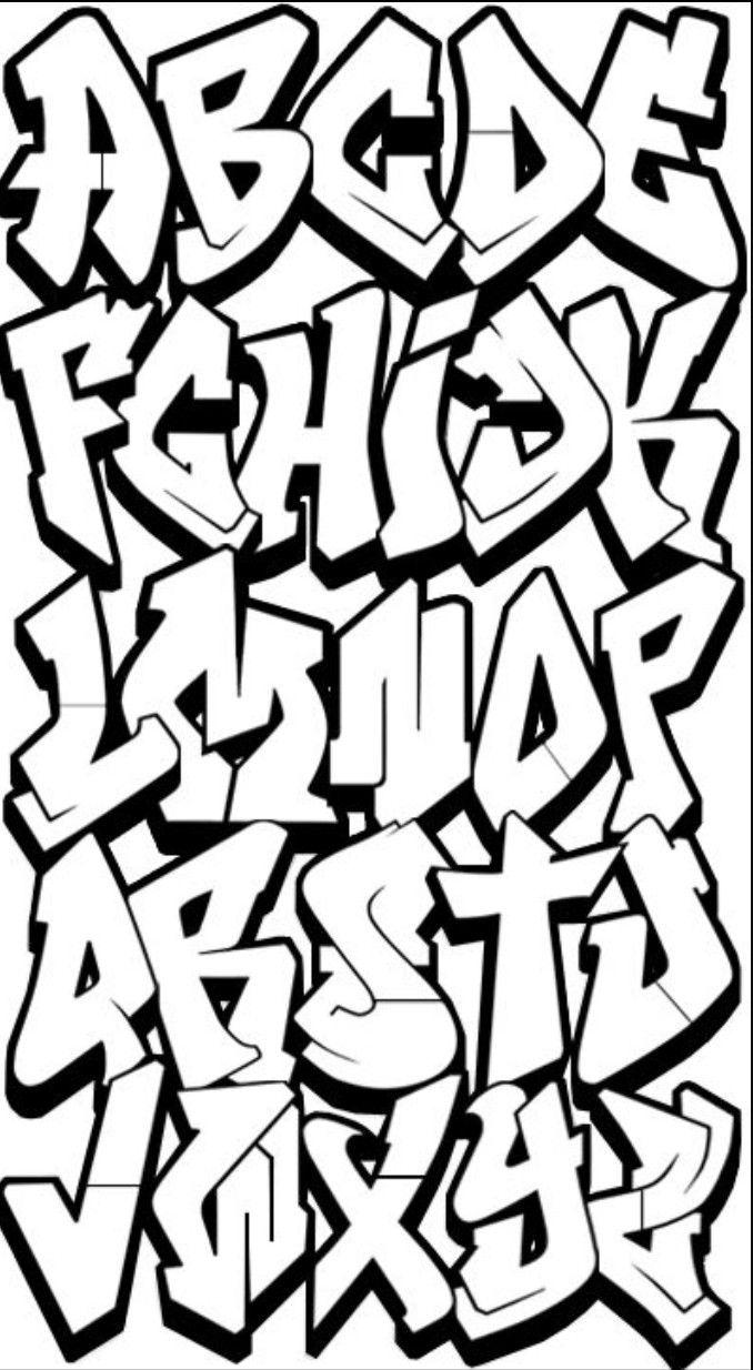 Arte urbano graffitis letras letras grafiti alfabeto de grafiti dibujando letras