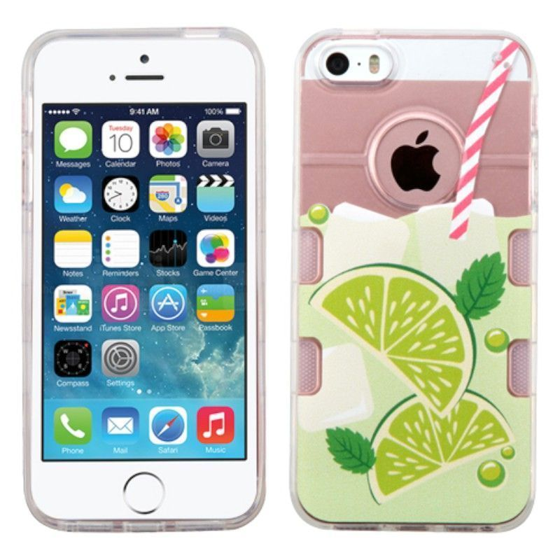 Insten / Green Mint Limeade TPU Rubber Candy Skin Case Cover For Apple iPhone 5/ 5S/ SE #2235555