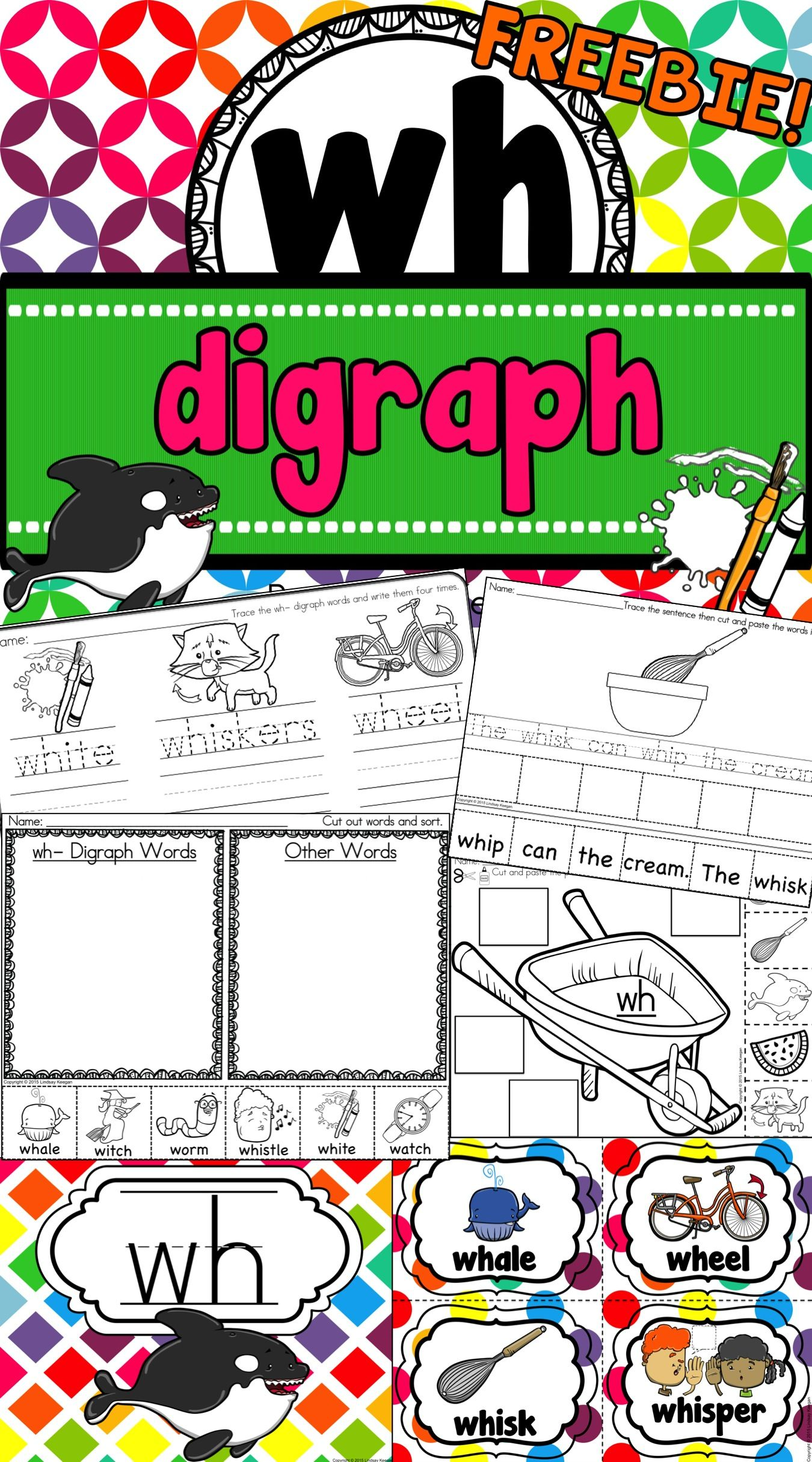 Freebie This Wh Digraph Resource Is Sure To Be A Hit In Your Classroom First Grade Phonics Phonics Kindergarten Phonics Activities [ 2430 x 1350 Pixel ]
