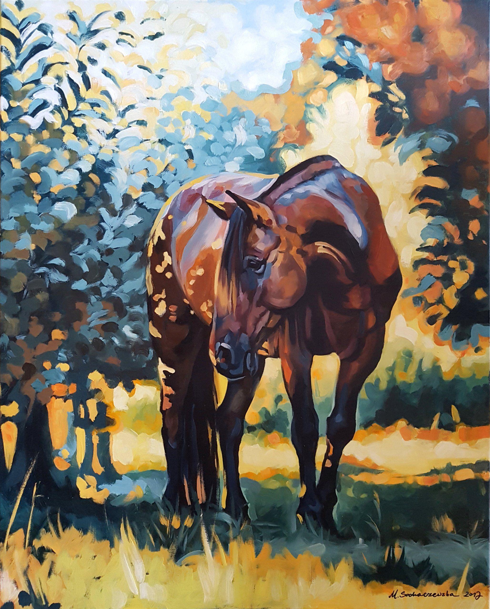 Ostatnie Tchnienie Lata 100x80 Cm Sochaczewska 7038370912 Allegro Pl Wiecej Niz Aukcje Najlepsze Oferty Na Najwiekszej Platform Horse Art Art Painting