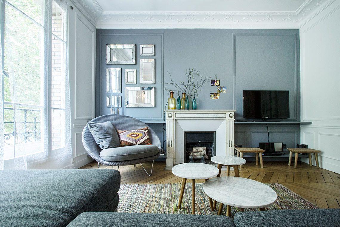 un appartement familial paris colori x zona giorno. Black Bedroom Furniture Sets. Home Design Ideas