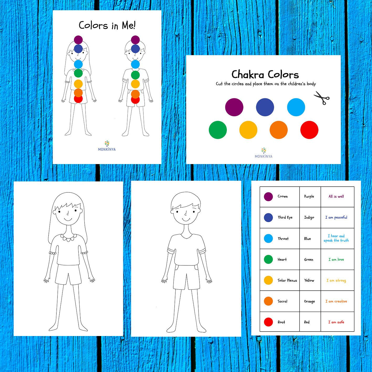 Colors in Me Chakras for Children Activity Sheet ...