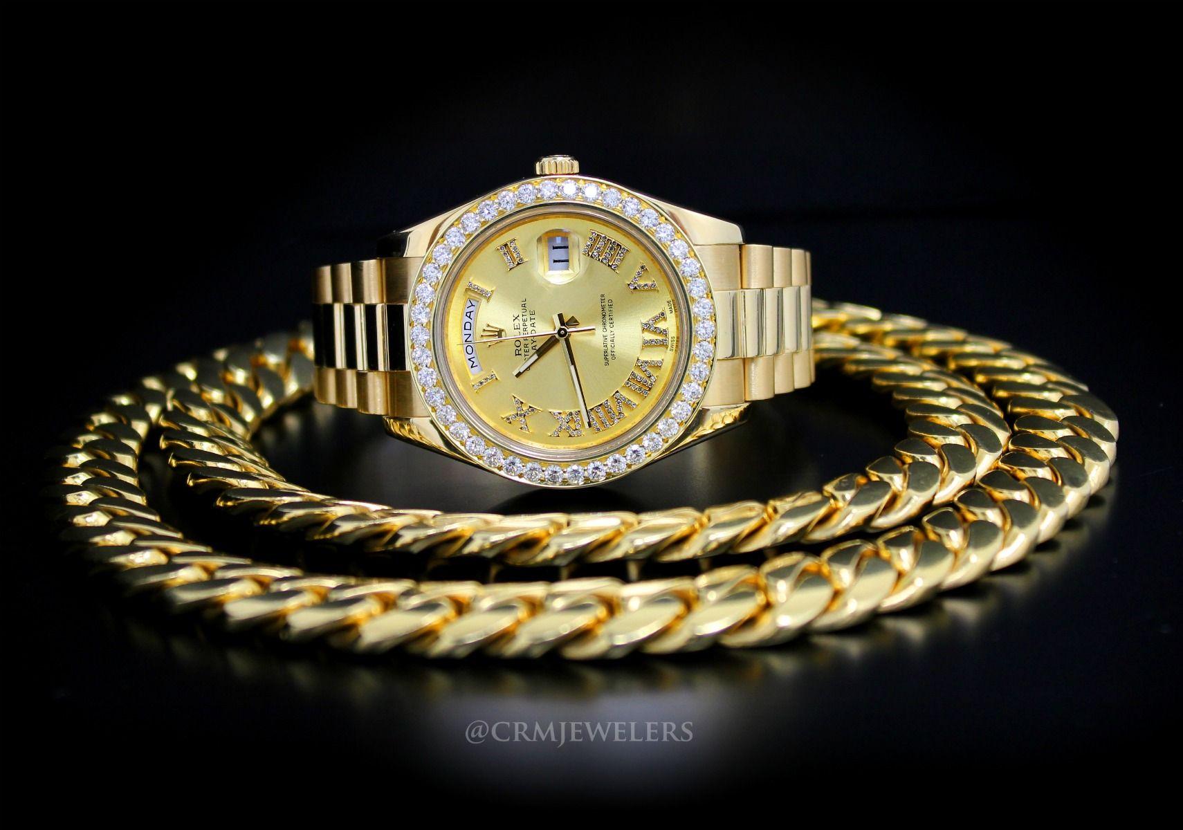 Miami Cuban Link Chains And Bracelets Crm Jewelers Miami Fl Gold Chains For Men Chains For Men Miami Cuban Link Chain