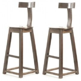 Rustic Industrial Wood T Back Counter Bar Stool Set Of 2 Rustic Decor Diy Rustic Decor Rustic Furniture Plans