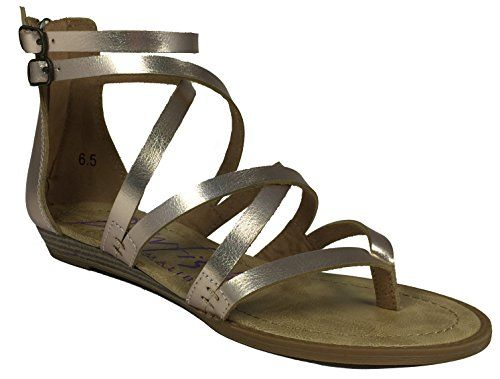 ad2a3a062793 Blowfish Womens Bungalow Wedge Sandal Rose Gold Pisa Polyurethane 6 M US --  See this great product.