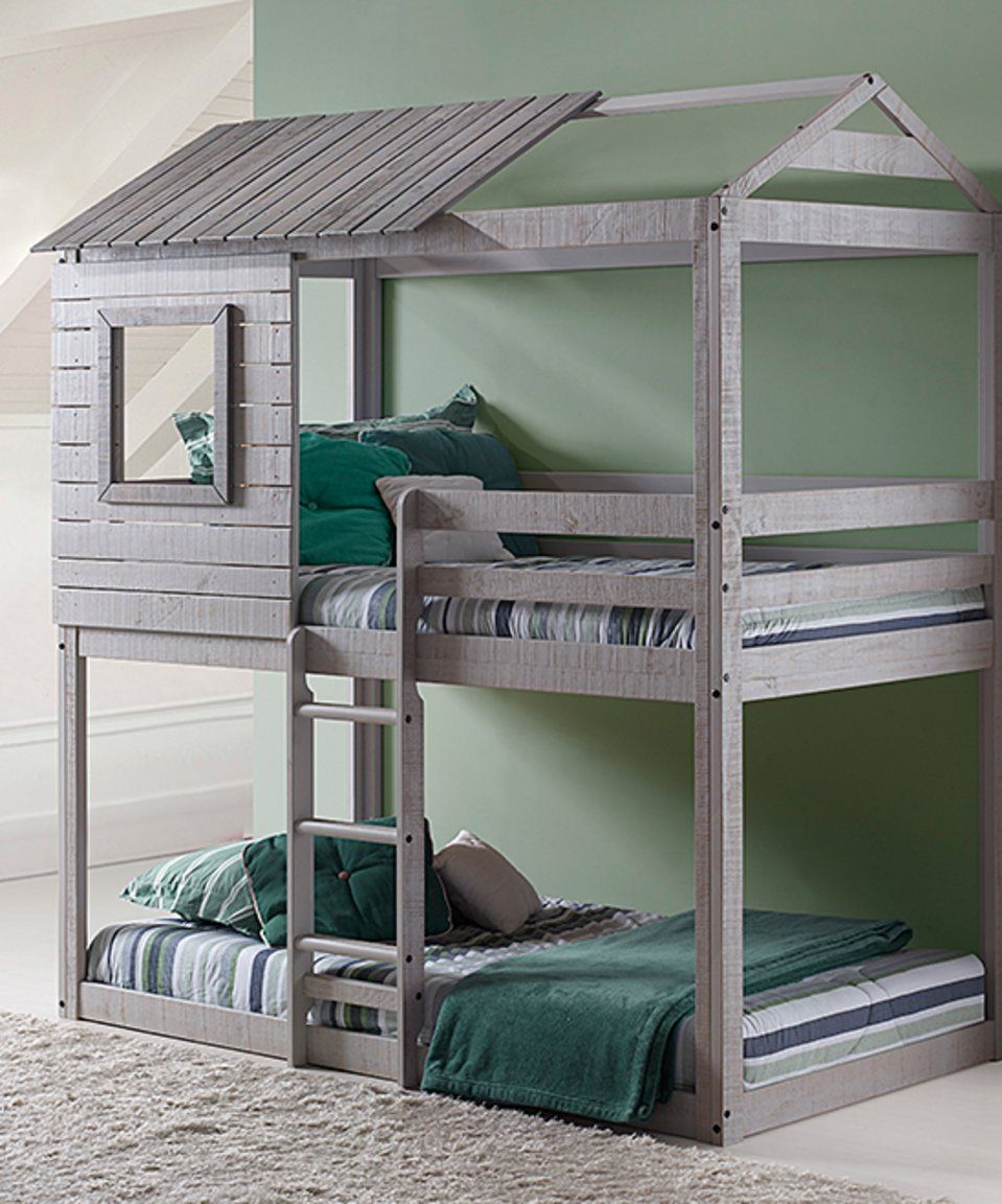 Loft bed ideas for low ceiling  Take a look at this Twin Deer Blind Bunk Bed today  Kids rooms