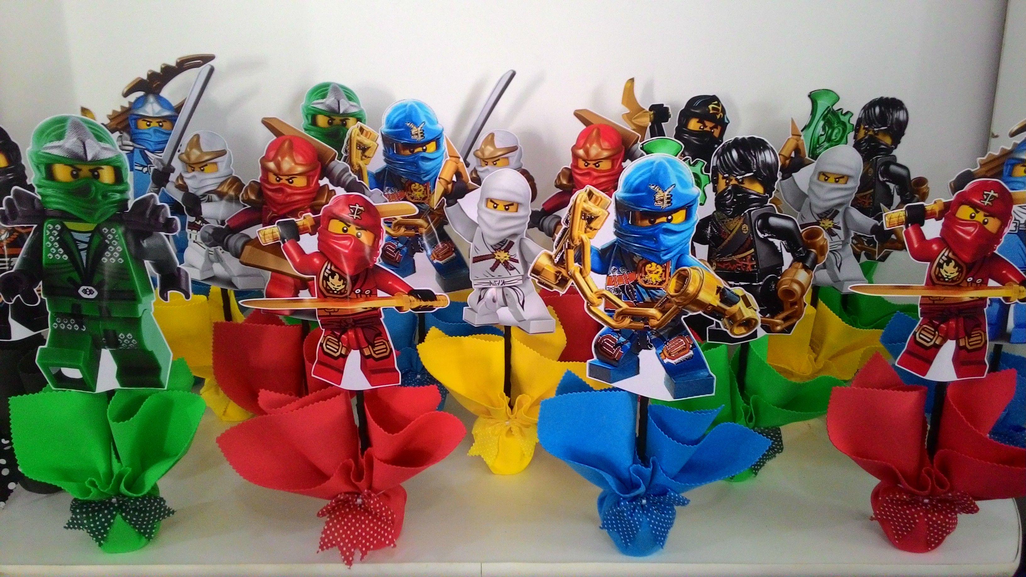 Centro De Mesa Ninjago Lego Party En 2019 Ninja Birthday Parties